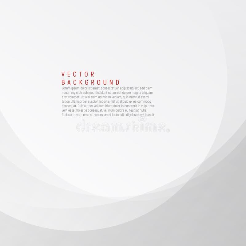 Белая и серая элегантная предпосылка дела Illustra волны вектора иллюстрация вектора