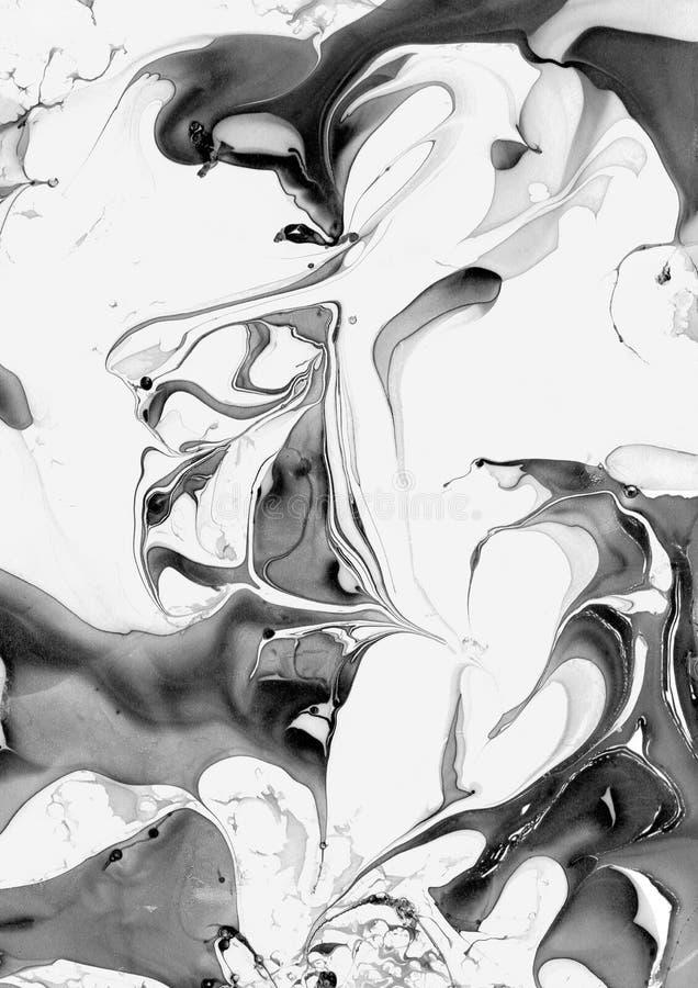 Белая и черная мраморная текстура стоковая фотография rf