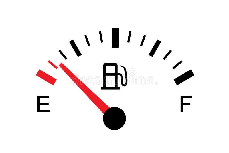 Белая иллюстрация бензобака на белизне - опорожните иллюстрация вектора
