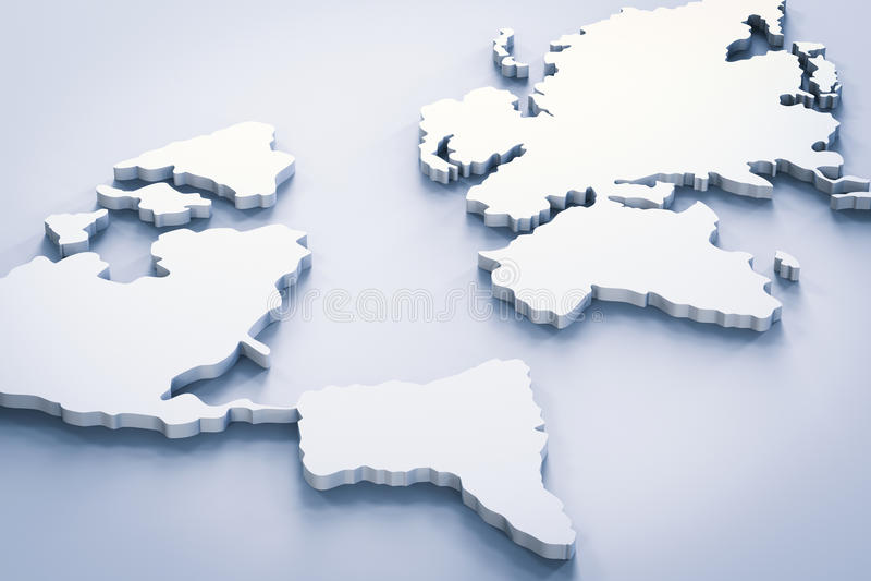 Белая карта мира стоковые изображения