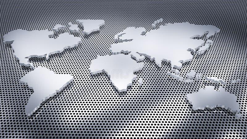 Белая карта мира стоковое фото rf