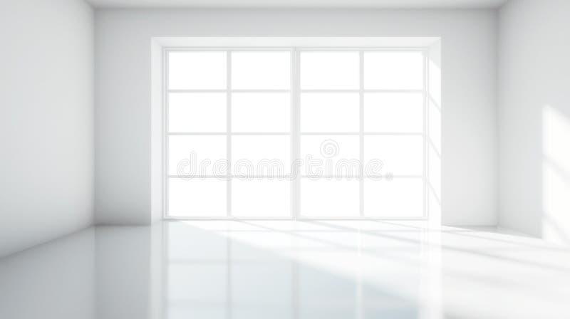 Белая комната иллюстрация штока