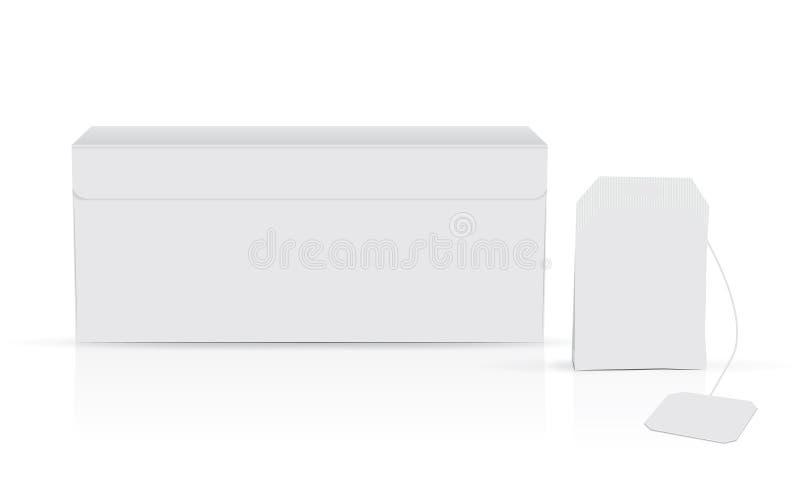 Белая коробка чая иллюстрация штока