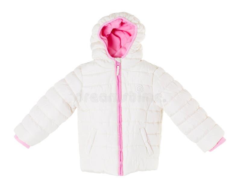 Белая куртка зимы стоковое изображение rf
