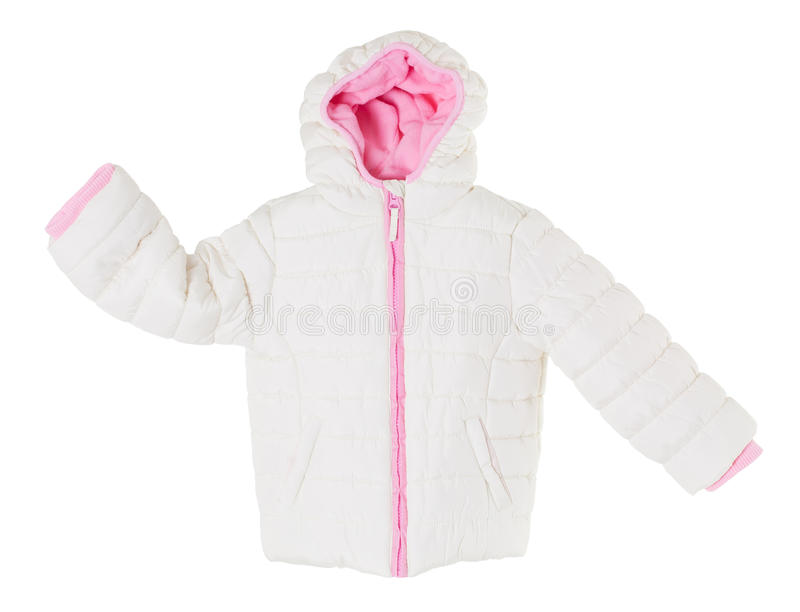 Белая куртка зимы стоковое фото