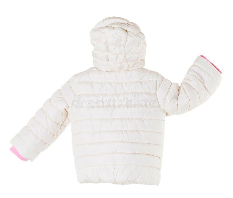 Белая куртка зимы стоковые изображения