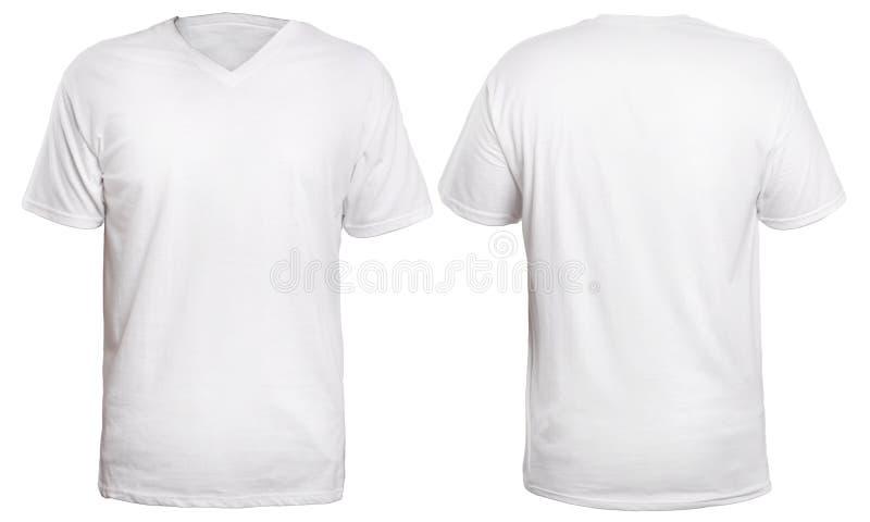 Белая насмешка рубашки V-шеи вверх стоковое фото