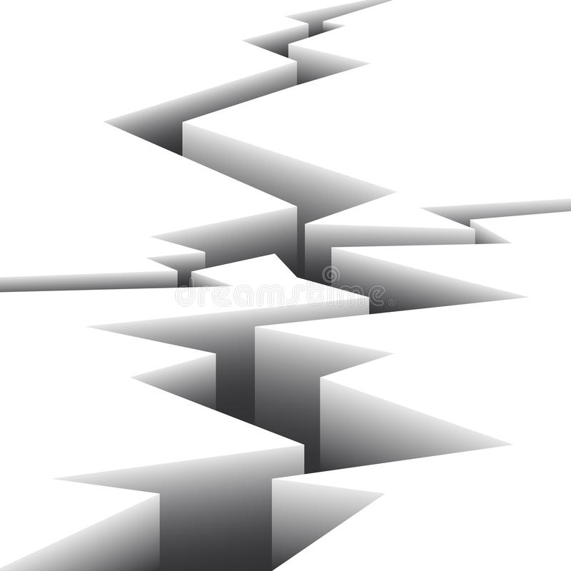 Белая поверхность треснута иллюстрация вектора