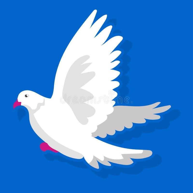 Белая посадка птицы иллюстрация вектора