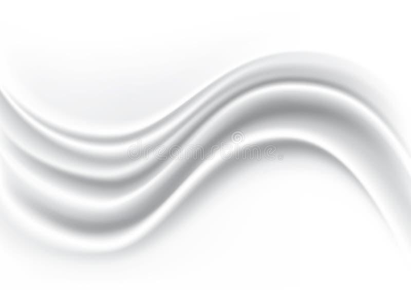 Белая предпосылка конспекта Silk ткани волны, иллюстрация вектора иллюстрация вектора