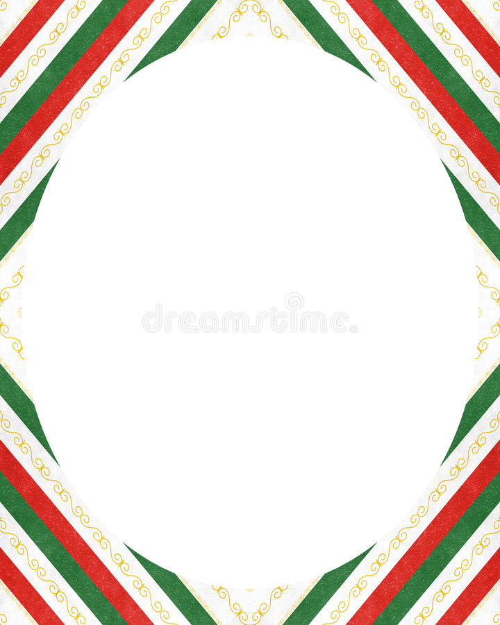Белая предпосылка рамки круга с украшенными границами дизайна иллюстрация вектора