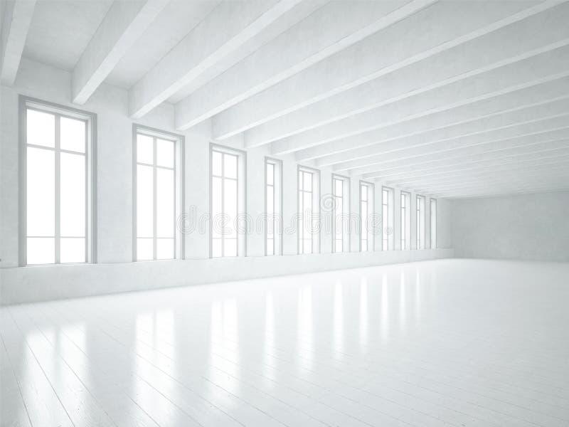 Белая просторная квартира стоковая фотография rf