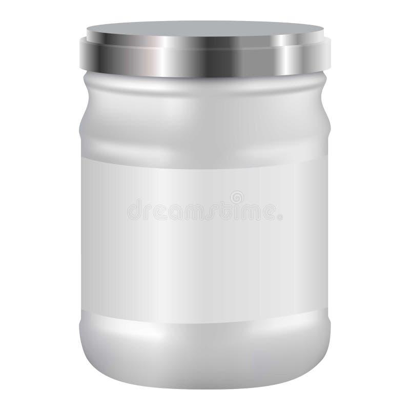 Белая пустая косметика с серебряным модель-макетом крышки бесплатная иллюстрация