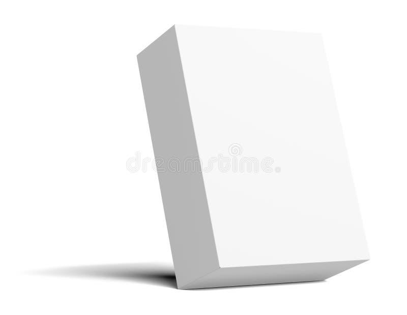 Белая пустая упаковывая картонная коробка опрокинута бесплатная иллюстрация