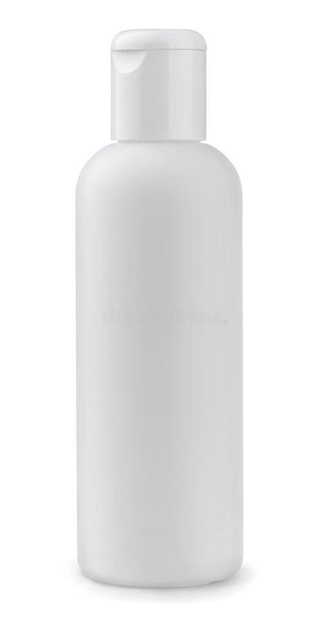 Белая пластичная бутылка стоковое изображение