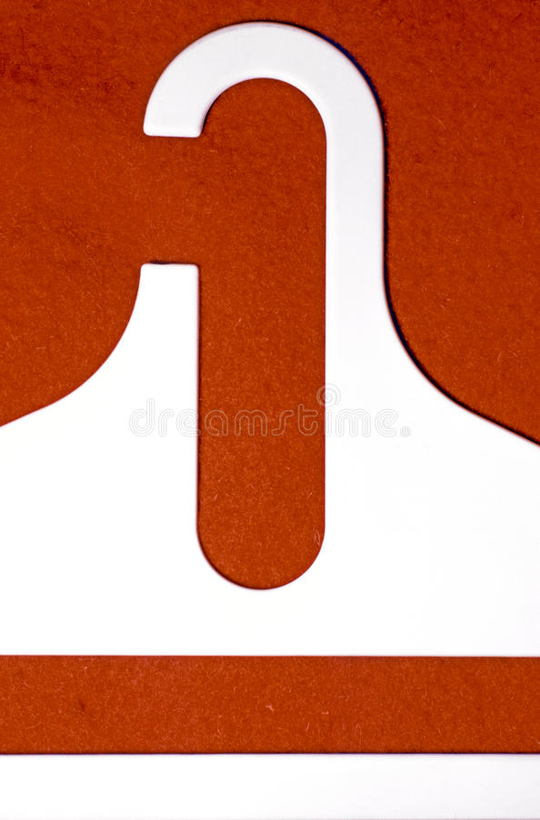 Download Белая пластичная плать-вешалка Стоковое Изображение - изображение насчитывающей материал, бело: 37931769