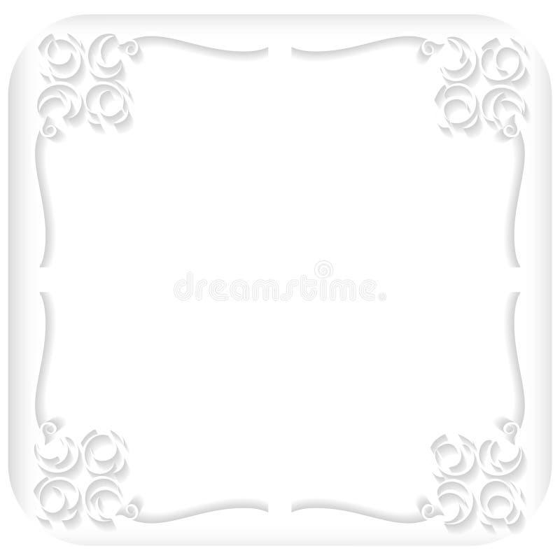 белая рамка иллюстрация вектора