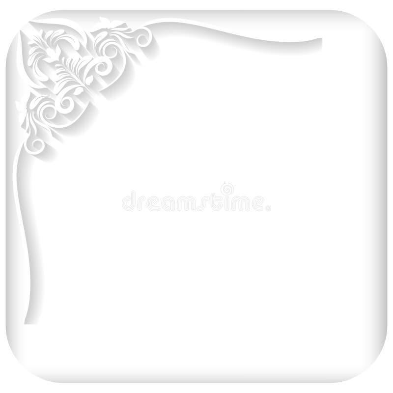 белая рамка иллюстрация штока