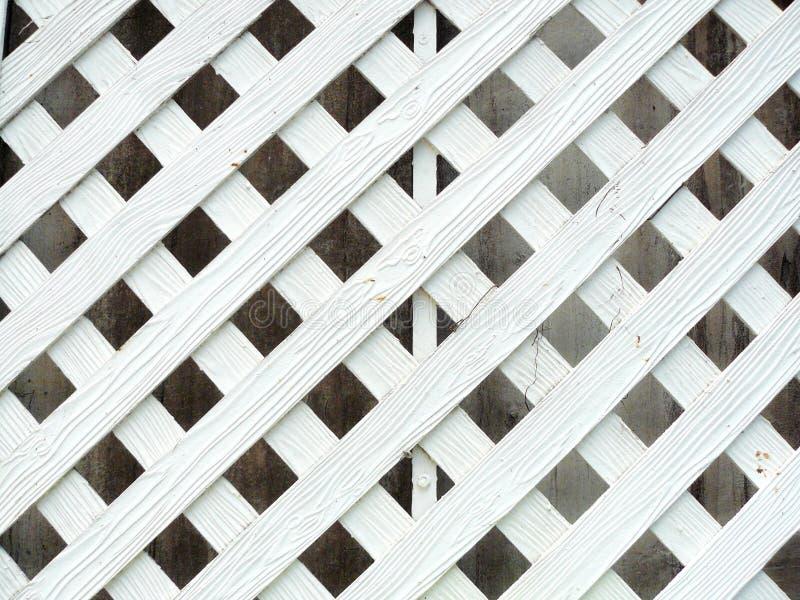 Белая древесина стены решетины стоковое изображение