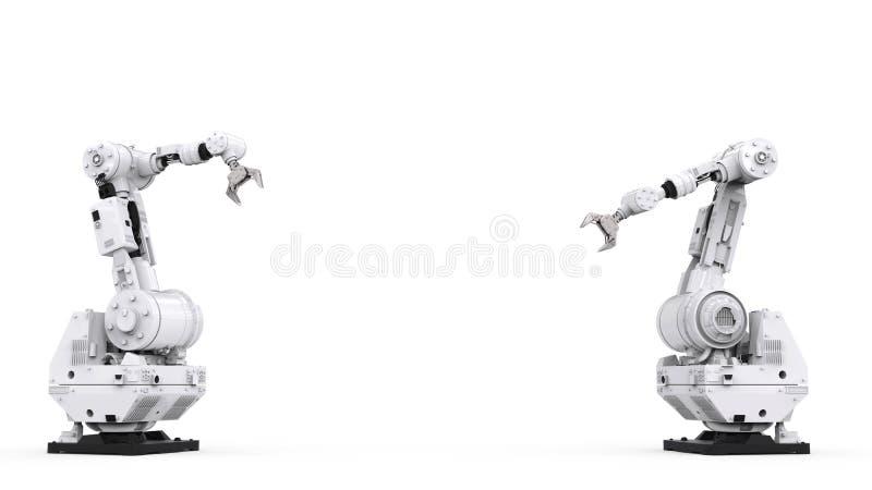 Белая робототехническая рука с пустым пространством стоковое фото