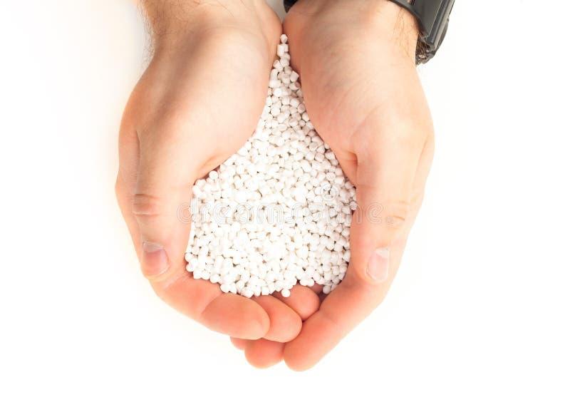 Белая смола полимера стоковая фотография rf
