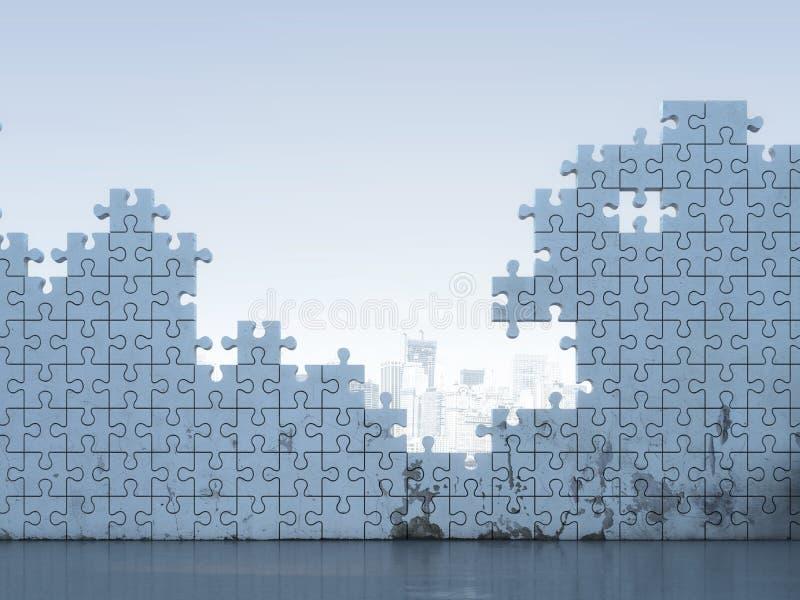 Белая стена головоломки иллюстрация вектора