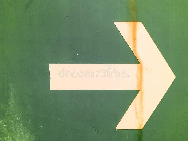 Белая стрелка стоковое изображение rf
