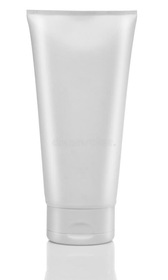 Белая трубка сливк или геля стоковые изображения rf