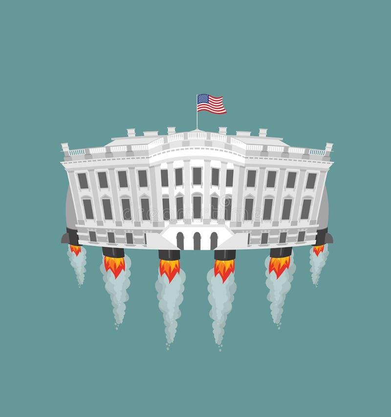 Белая турбинаракеты houseПрезидент Резиденция США в космосе A бесплатная иллюстрация
