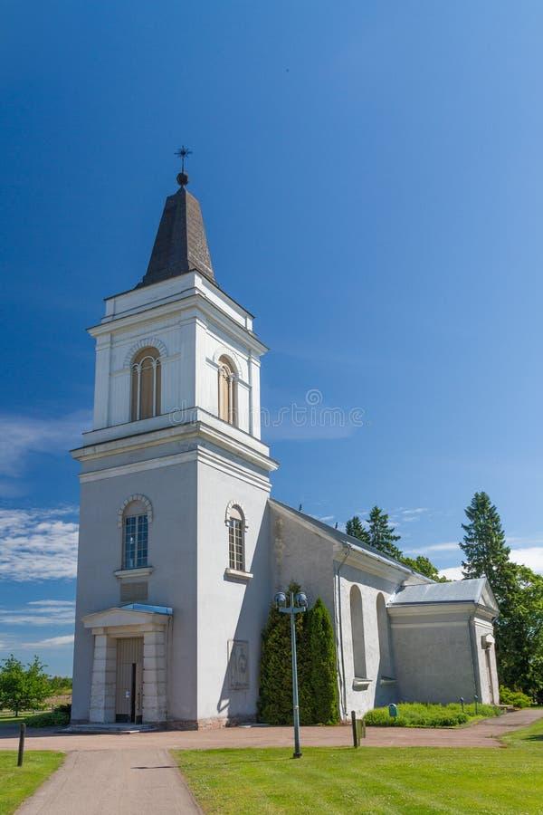 Белая церковь в Hamina, Финляндии стоковая фотография