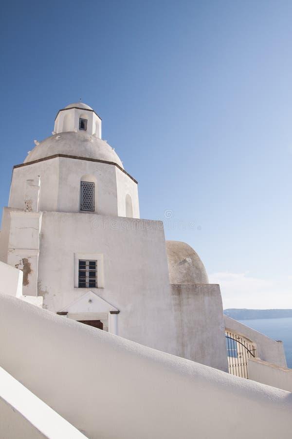 Белая часовня Santorini стоковое фото