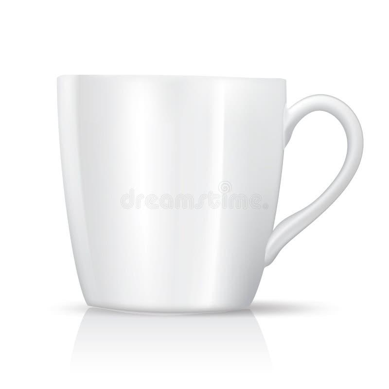 Белая чашка чая иллюстрация вектора