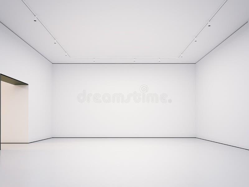 Белая чистая зала перевод 3d иллюстрация штока