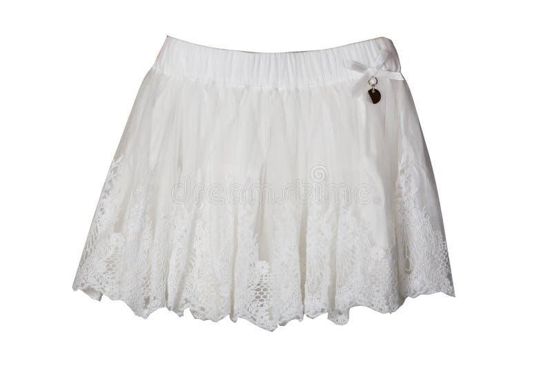Белая юбка для девушки стоковое фото rf