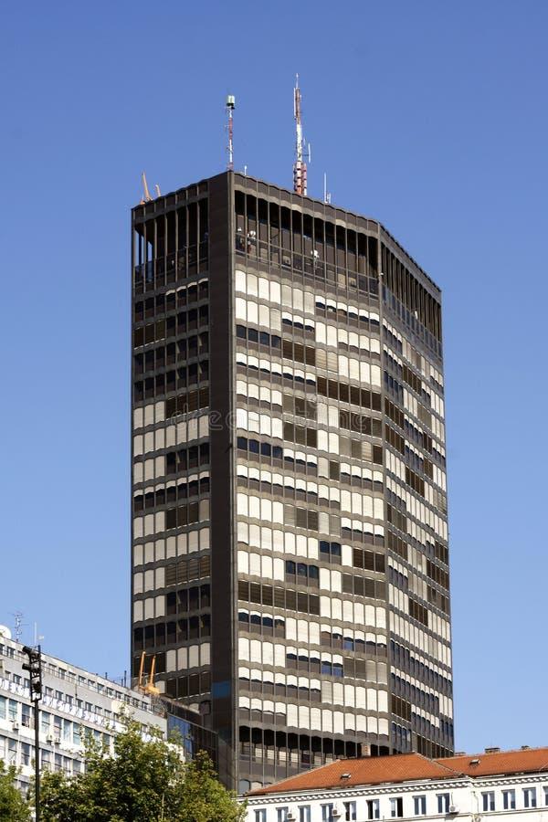 Белград - здание Beogradjanka в улице Kralja Milana стоковое фото rf
