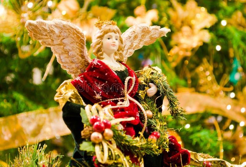 белизна ангела изолированная рождеством стоковая фотография