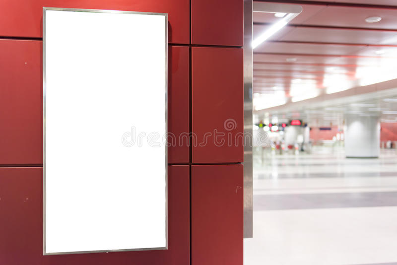 белизна афиши пустая стоковое изображение rf