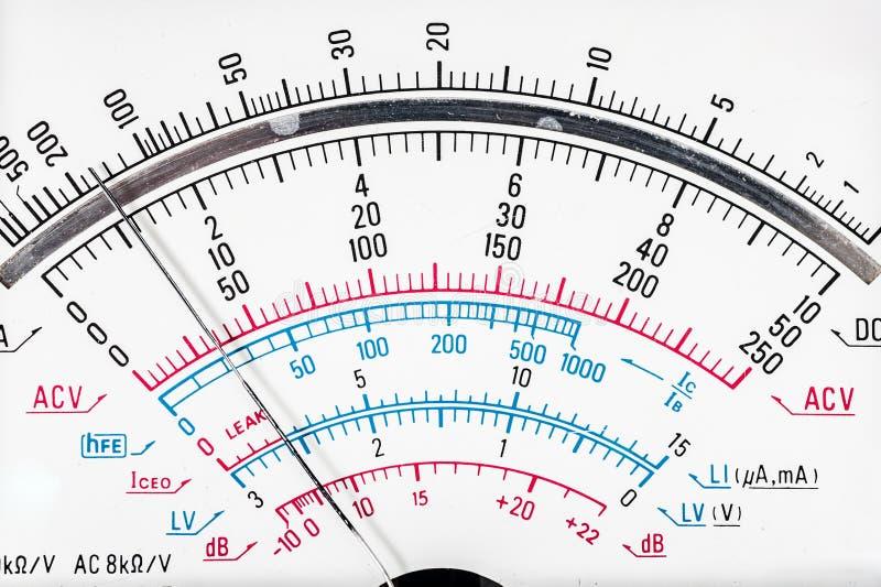 белизна вектора вольтамперомметра предпосылки цифровой изолированная иллюстрацией стоковая фотография rf