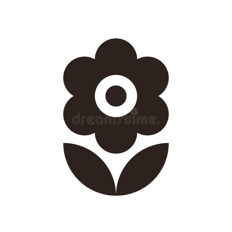 белизна вектора иллюстрации иконы цветка предпосылки установленная бесплатная иллюстрация