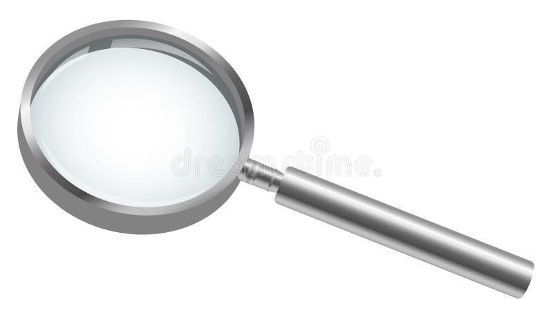 белизна вектора предпосылки стеклянной изолированная иллюстрацией увеличивая бесплатная иллюстрация