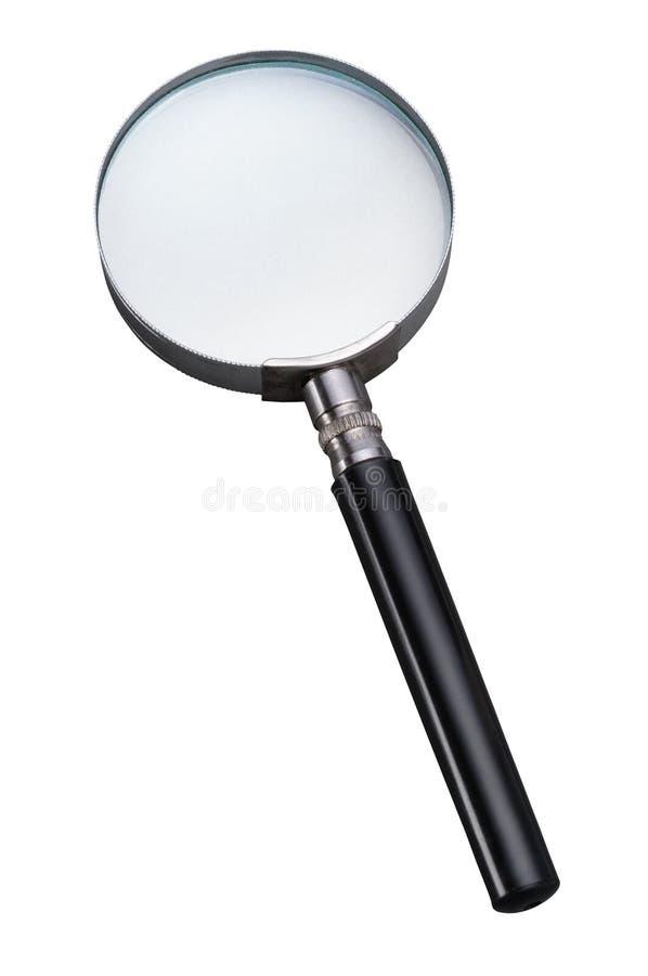 белизна вектора предпосылки стеклянной изолированная иллюстрацией увеличивая стоковое изображение