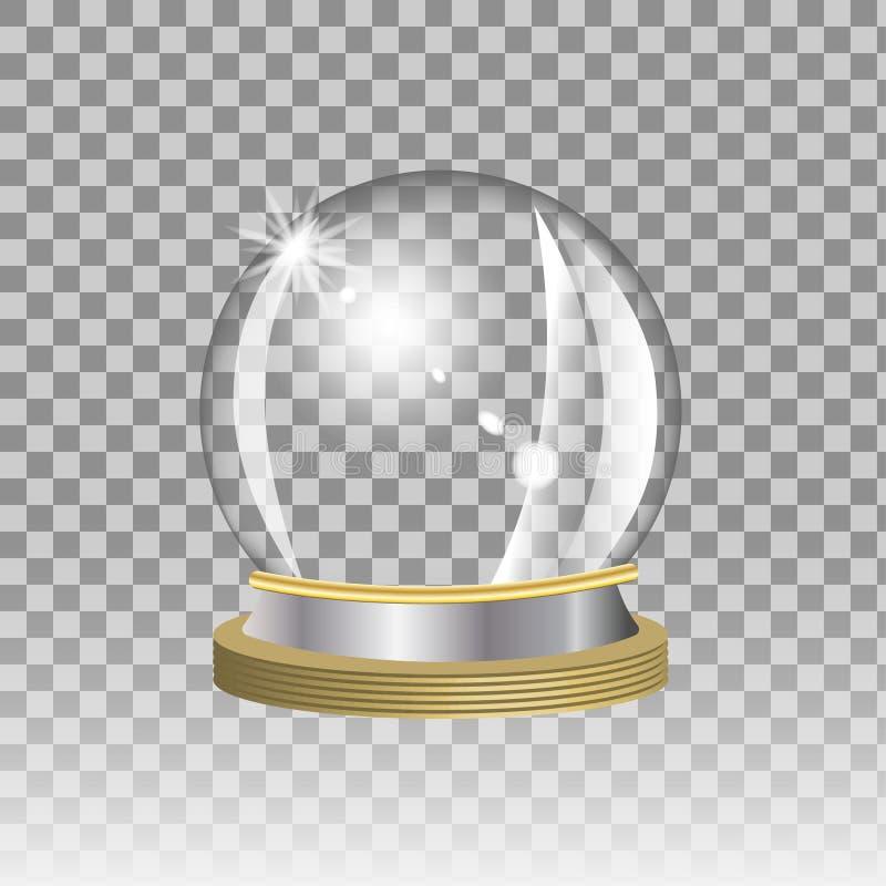 белизна вектора снежка глобуса изолированная иллюстрацией иллюстрация вектора