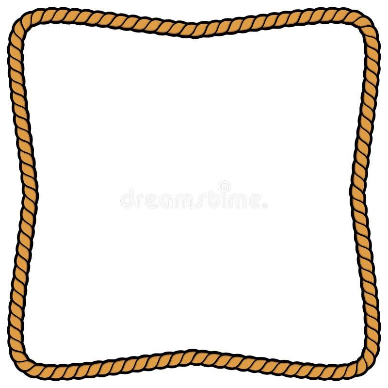 белизна веревочки рамки предпосылки иллюстрация вектора