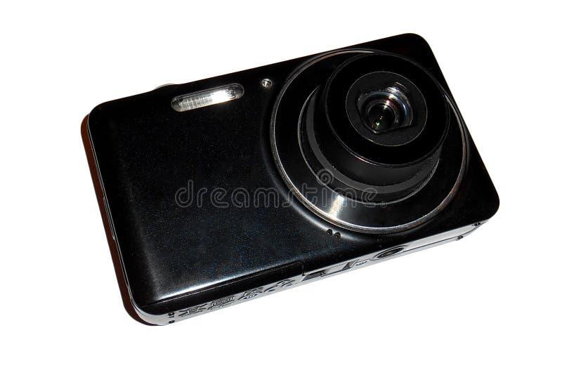 белизна взгляда камеры компактная цифровая передняя изолированная стоковые фотографии rf