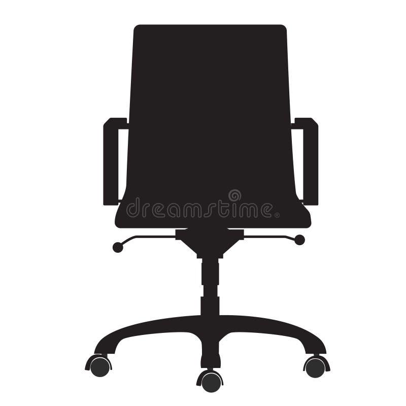 белизна вопроса офиса стула предпосылки изолированная мебелью иллюстрация штока