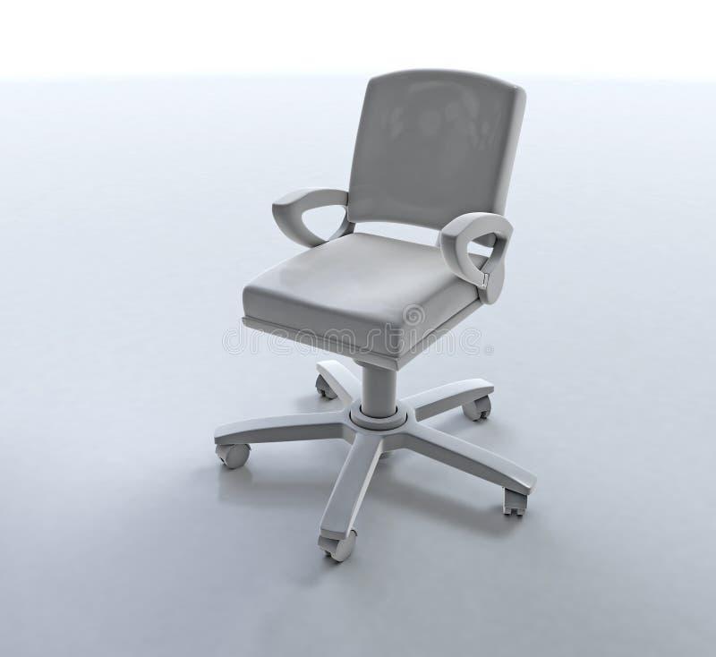 белизна вопроса офиса стула предпосылки изолированная мебелью стоковые изображения rf