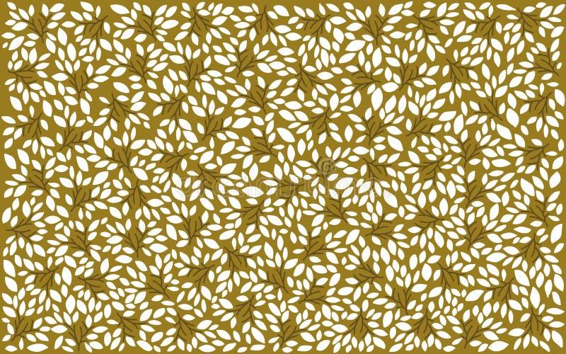 Белизна выходит на картину предпосылки бежевой весны стиля Арт Деко деревенскую стоковое изображение