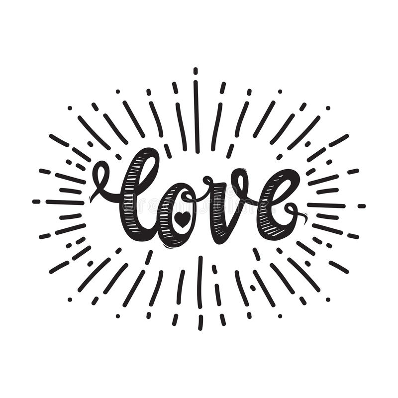 Белизна влюбленности и starburst иллюстрация штока