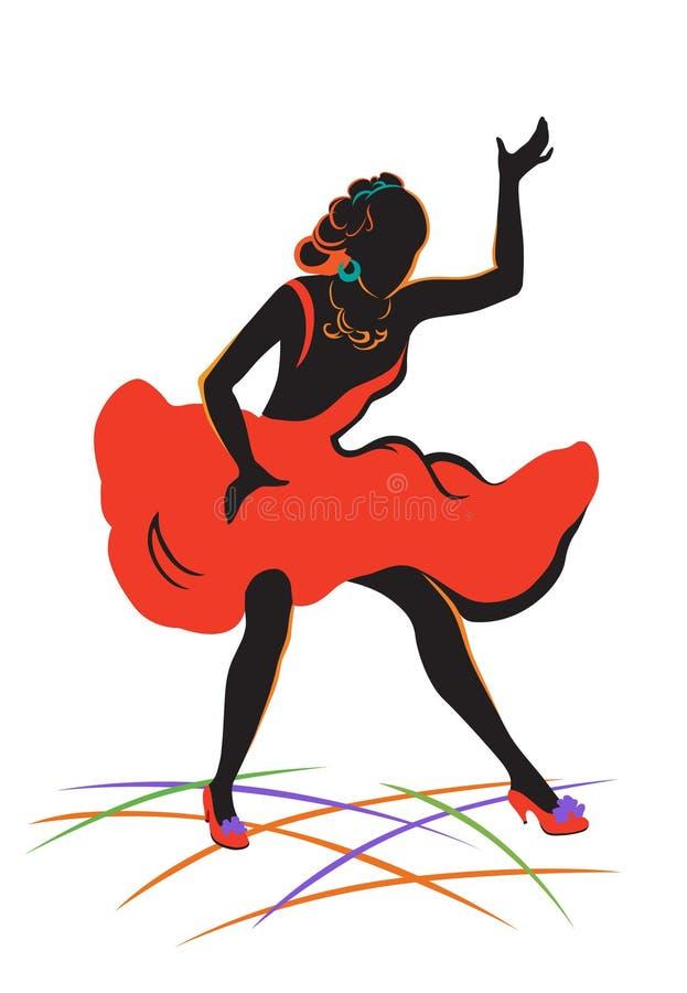 белизна девушки танцы изолированная бесплатная иллюстрация