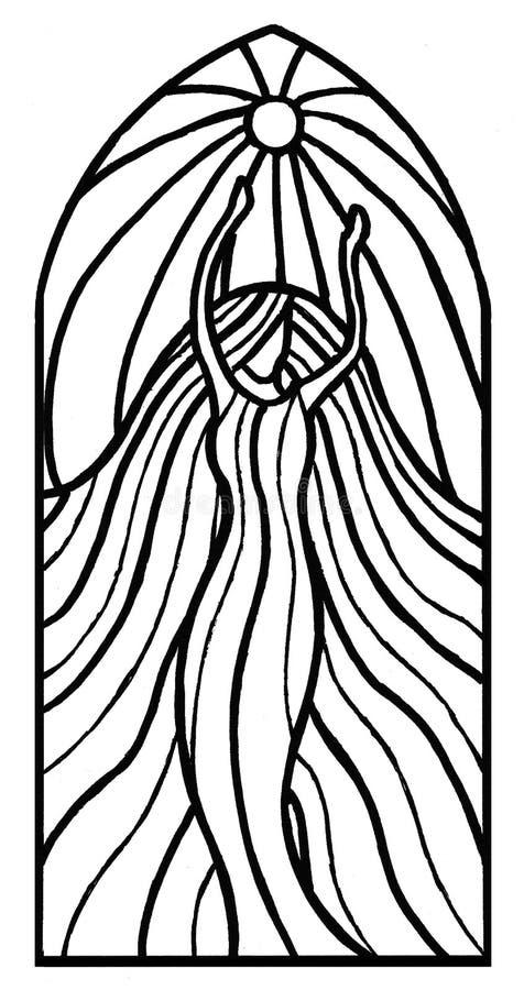 белизна девушки танцы изолированная иллюстрация штока